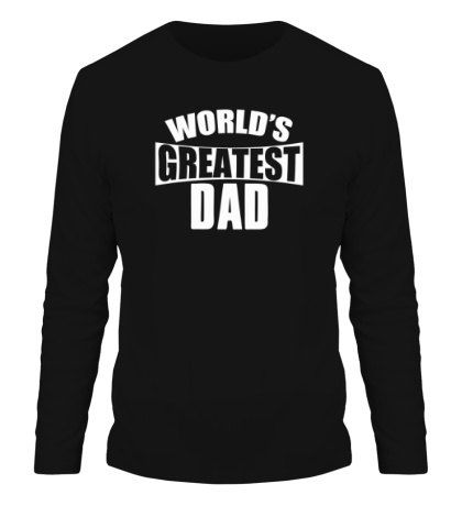 Мужской лонгслив Worlds Greatest Dad