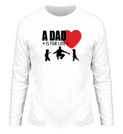 Мужской лонгслив A Dad is for life