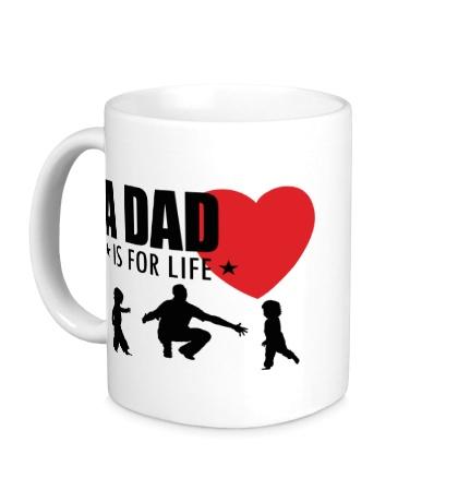 Керамическая кружка A Dad is for life