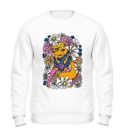 Свитшот Лиса в цветах
