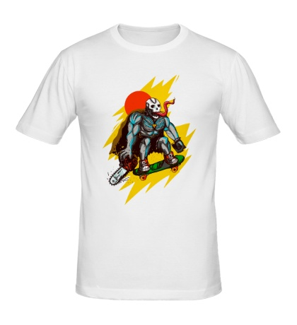 Мужская футболка Страшный скейтер