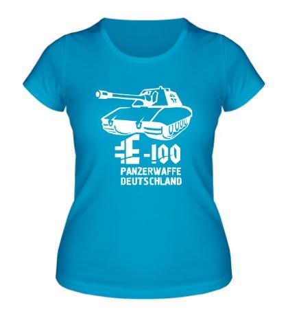 Женская футболка E-100 Panzerwaffe
