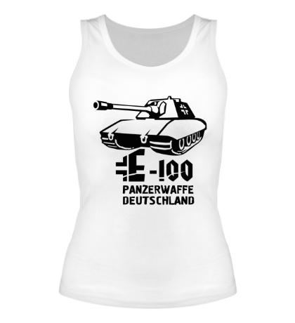 Женская майка E-100 Panzerwaffe