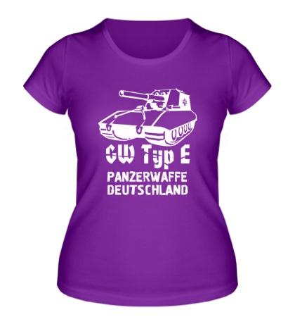 Женская футболка GW Typ E Panzerwaffe