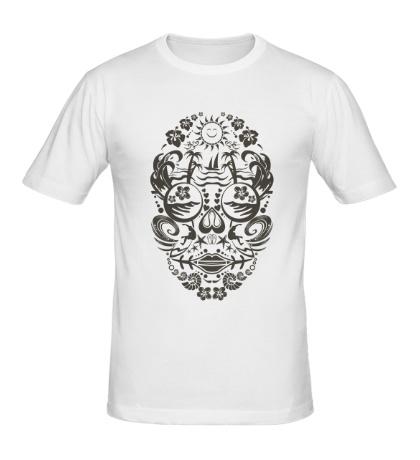 Мужская футболка Skull Beach
