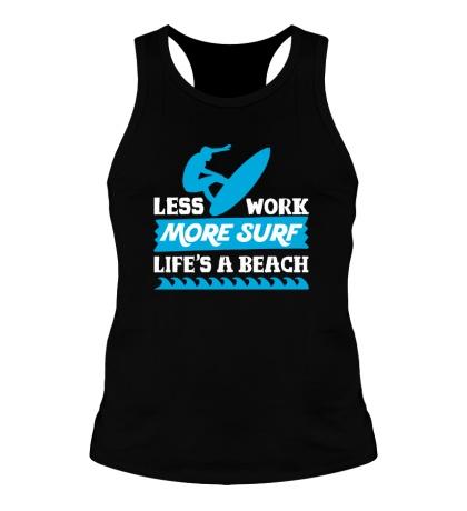 Мужская борцовка Less Work, More Surf