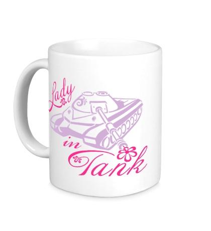 Керамическая кружка Lady Tank