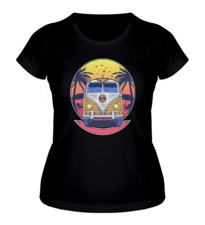 Женская футболка Beach Volkswagen