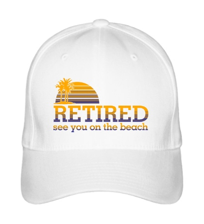 Бейсболка RETIRED, see you on the beach