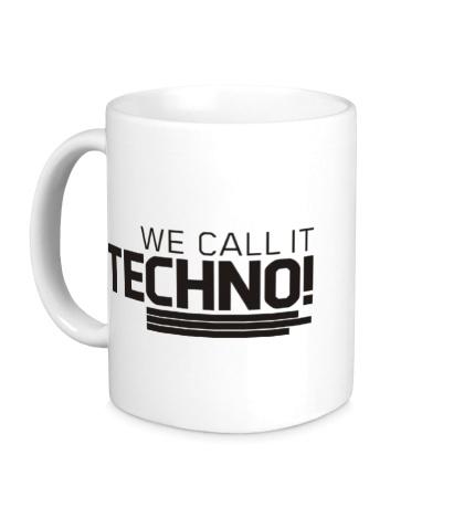 Керамическая кружка We call it Techno