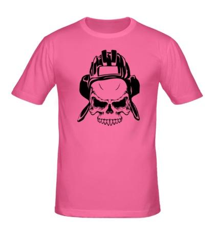 Мужская футболка Череп Танкиста