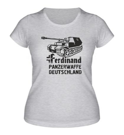 Женская футболка Ferdinand Panzerwaffe