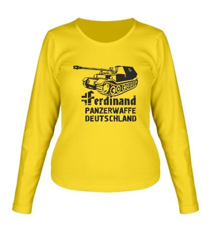 Женский лонгслив Ferdinand Panzerwaffe