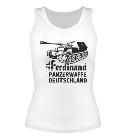Женская майка Ferdinand Panzerwaffe