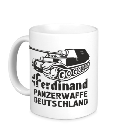 Керамическая кружка Ferdinand Panzerwaffe