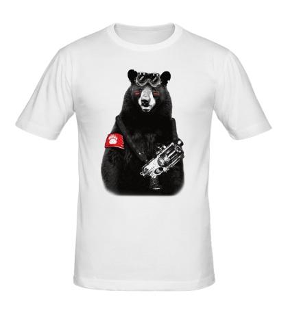 Мужская футболка Медведь Бунтарь