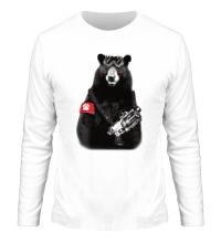 Мужской лонгслив Медведь Бунтарь