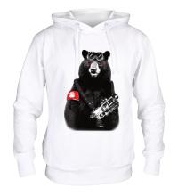 Толстовка с капюшоном Медведь Бунтарь