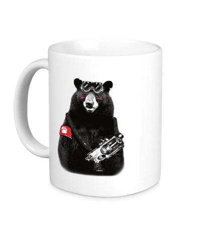 Керамическая кружка Медведь Бунтарь