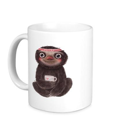 Керамическая кружка Я люблю ленивцев