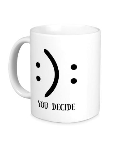 Керамическая кружка You Decide