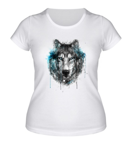 Женская футболка Абстракция волка