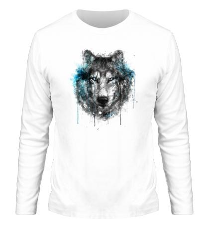 Мужской лонгслив Абстракция волка