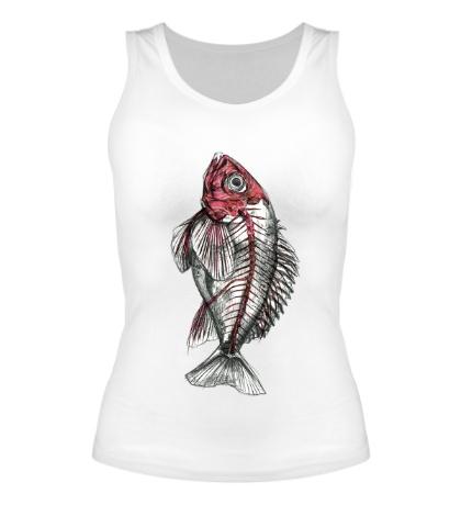 Женская майка Рентген рыбы