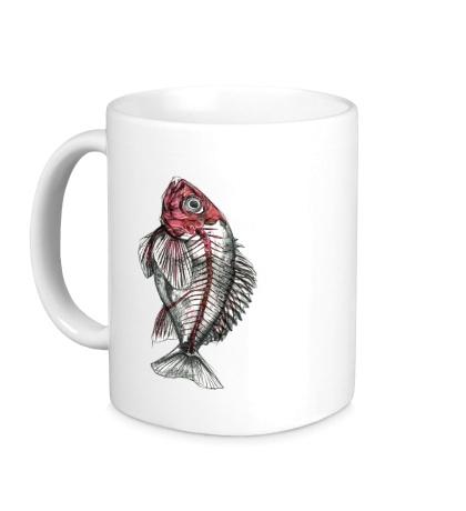 Керамическая кружка Рентген рыбы