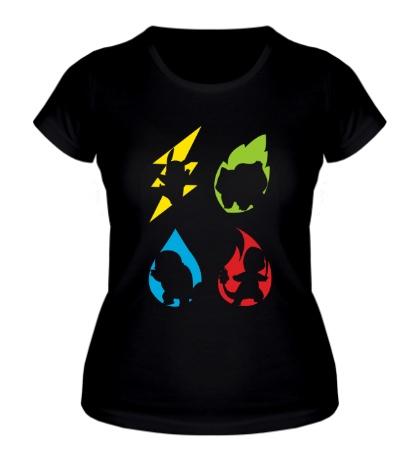 Женская футболка Element Pokemon