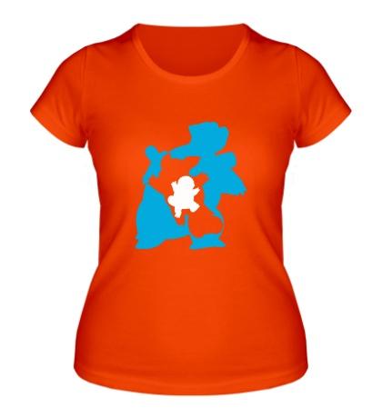 Женская футболка Water turtle