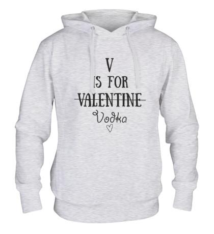 Толстовка с капюшоном V is for Vodka