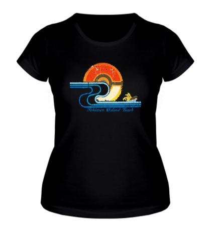 Женская футболка Pokemon Island Beach