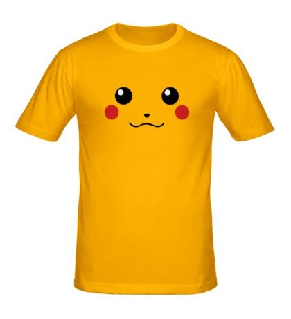 Мужская футболка Мордочка пикачу