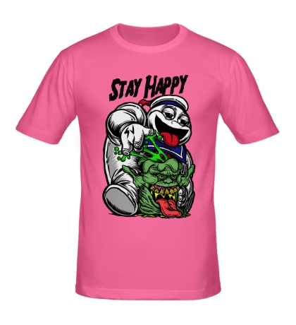 Мужская футболка Stay Happy