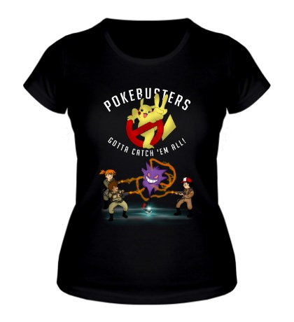 Женская футболка Pokebusters