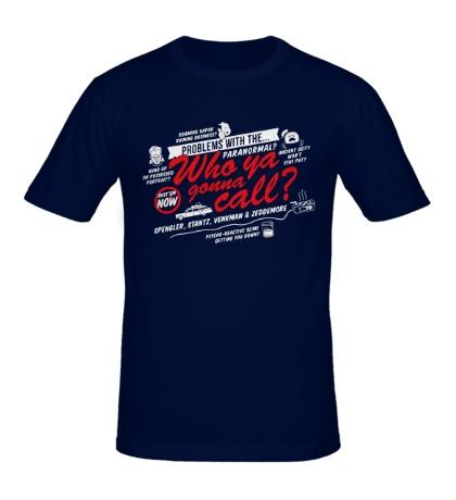 Мужская футболка Call Ghostbusters