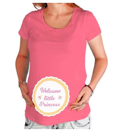 Футболка для беременной Welcome little Princess