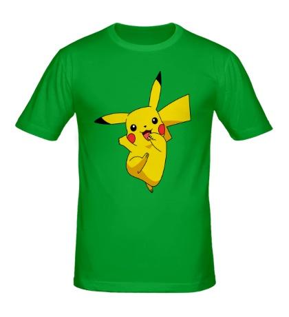 Мужская футболка Веселый Пикачу