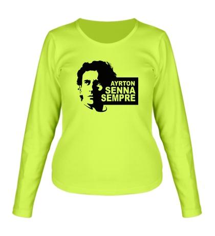 Женский лонгслив Ayrton Senna Sempre