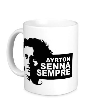 Керамическая кружка Ayrton Senna Sempre