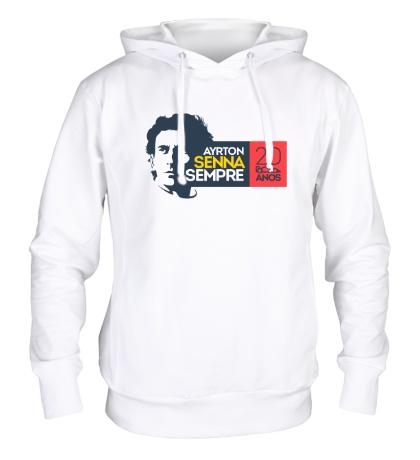 Толстовка с капюшоном Ayrton Senna: 20 anos