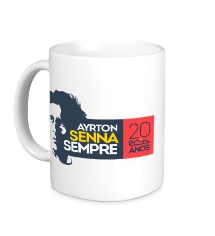 Керамическая кружка Ayrton Senna: 20 anos