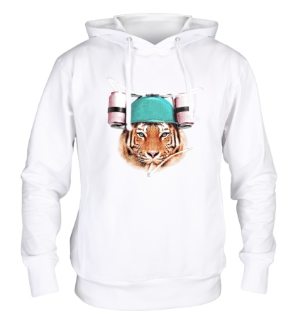 Толстовка с капюшоном Тигр тусовщик