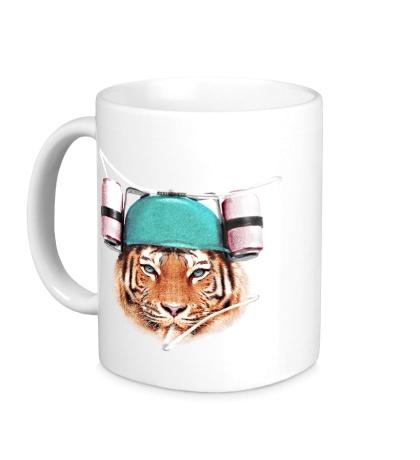 Керамическая кружка Тигр тусовщик
