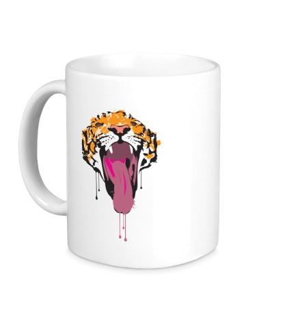 Керамическая кружка Тигр-лизун