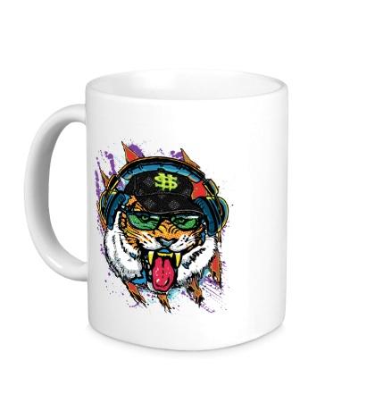 Керамическая кружка Уличный тигр