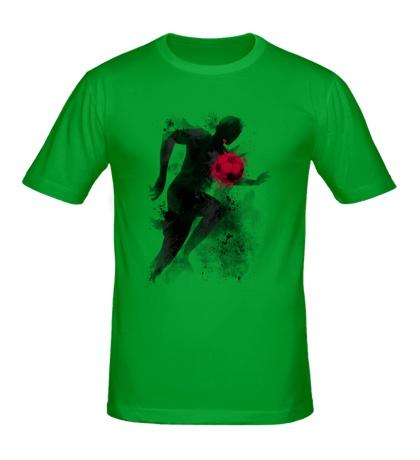 Мужская футболка Силуэт футболиста