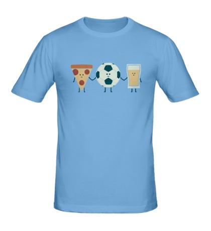Мужская футболка Футбольные друзья