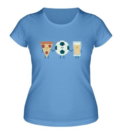 Женская футболка Футбольные друзья